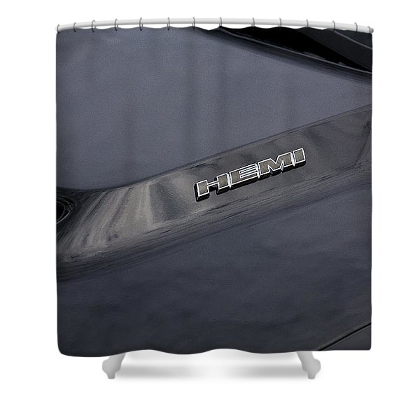 2011 Dodge Challenger Rt Black Shower Curtain