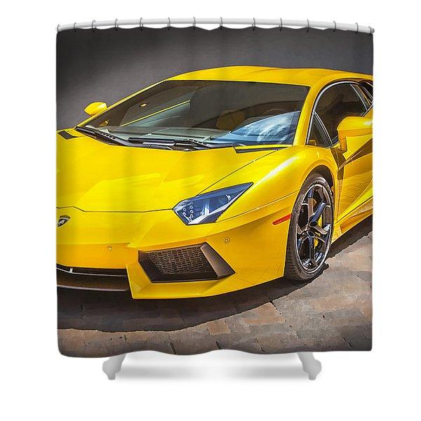2013 Lamborghini Adventador Lp 700 4 Shower Curtain