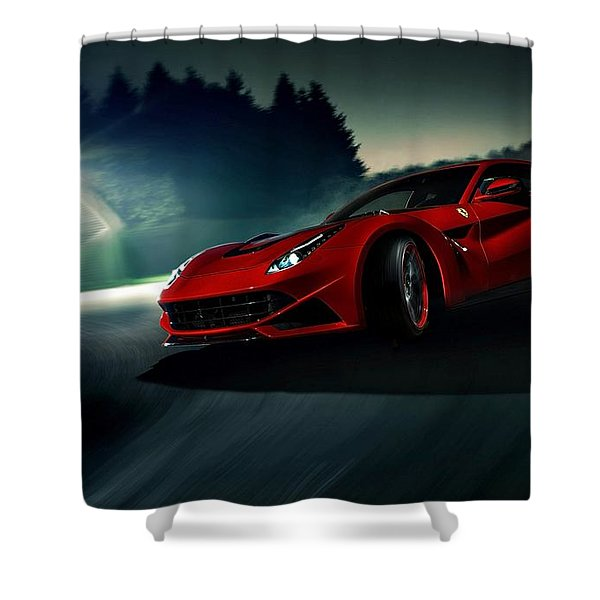 2014 Novitec Rosso Ferrari F12 Berlinetta N Largo Shower Curtain