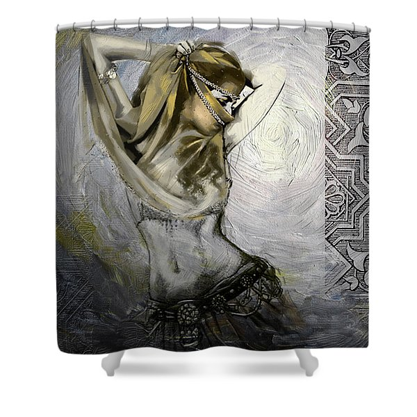 Abstract Belly Dancer 3a Shower Curtain