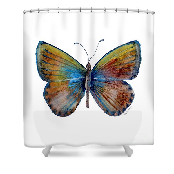 22 Clue Butterfly Shower Curtain