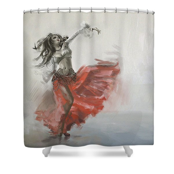 Belly Dancer 4 Shower Curtain