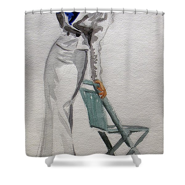 A Day At The Seashore 2 Shower Curtain