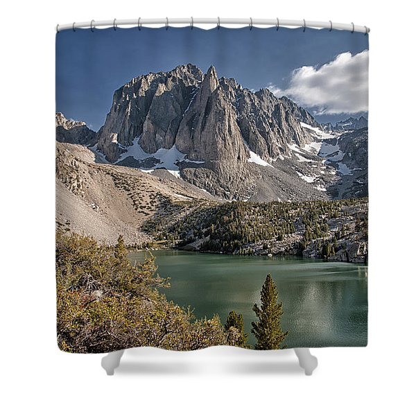 2nd Lake And Temple Crag Shower Curtain