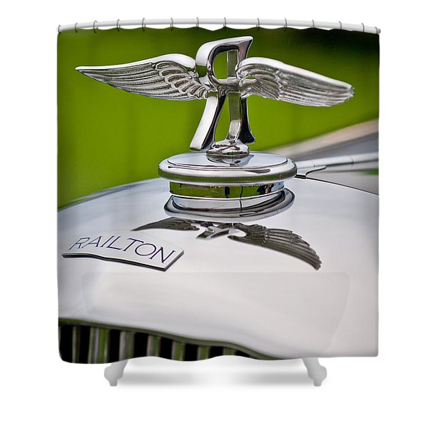 1937 Railton Rippon Brothers Special Limousine Hood Ornament Shower Curtain