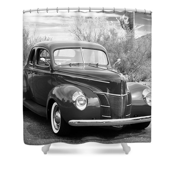 1940 Ford Deluxe Coupe Shower Curtain
