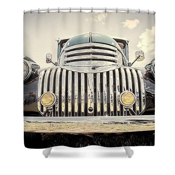 1947 Suburban Shower Curtain