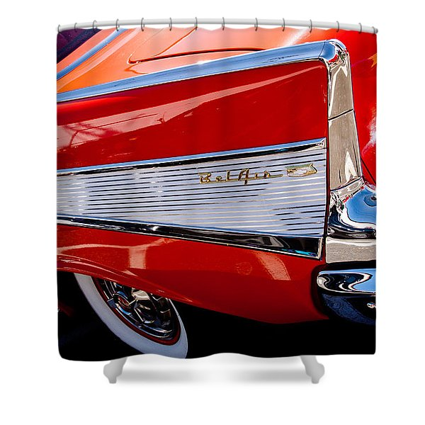 1957 Chevy Bel Air Custom Hot Rod Shower Curtain