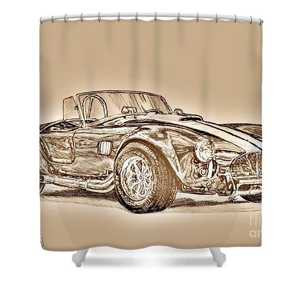 1965 Muscle Car Shower Curtain