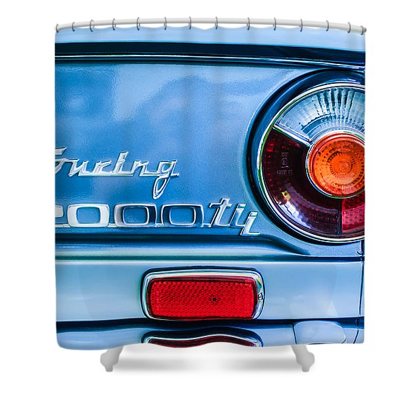 1972 Bmw 2000 Tii Touring Taillight Emblem -0182c Shower Curtain
