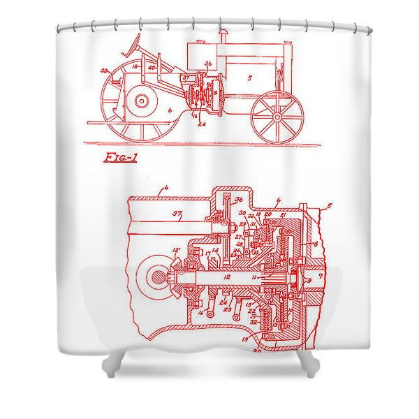 Antique Massey-ferguson Tractor Patent 1935 Shower Curtain