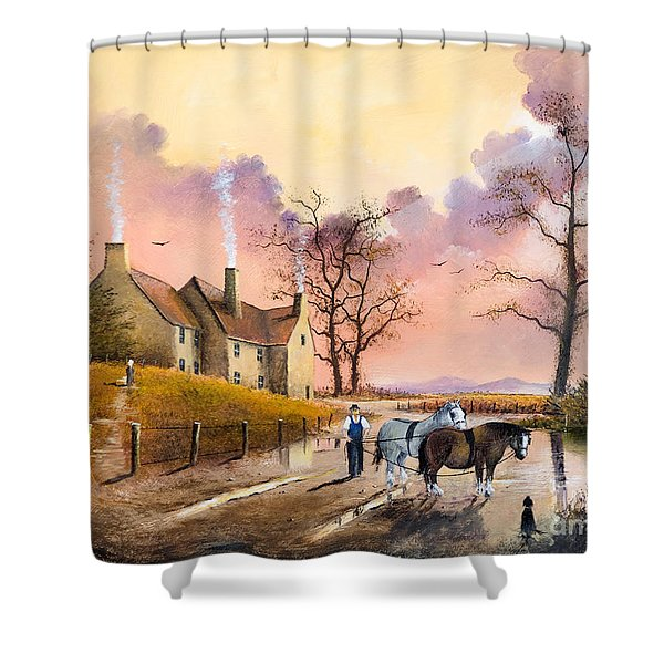 Shower Curtain featuring the painting Autumn Gold by Ken Wood