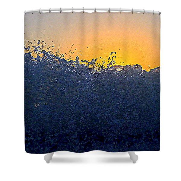 Badwave Shower Curtain