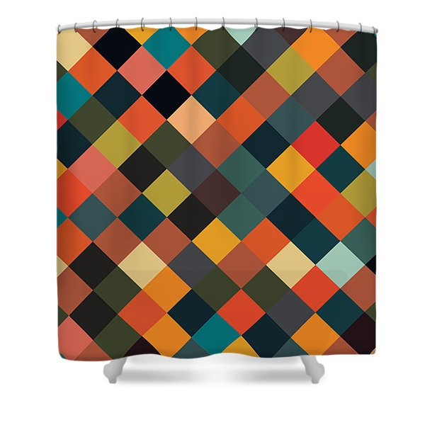 Bold Geometric Print Shower Curtain