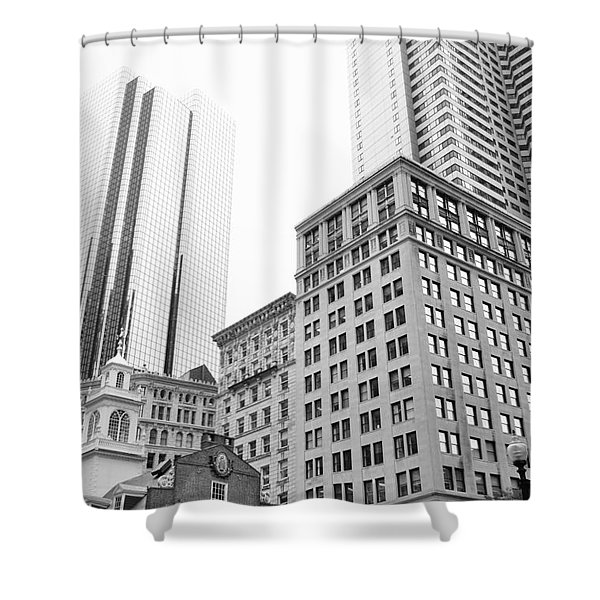 Boston Cityscape Shower Curtain