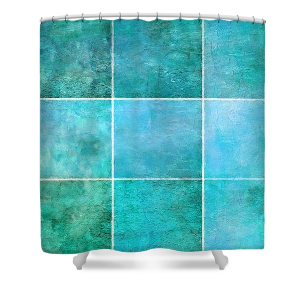 3 By 3 Ocean Shower Curtain