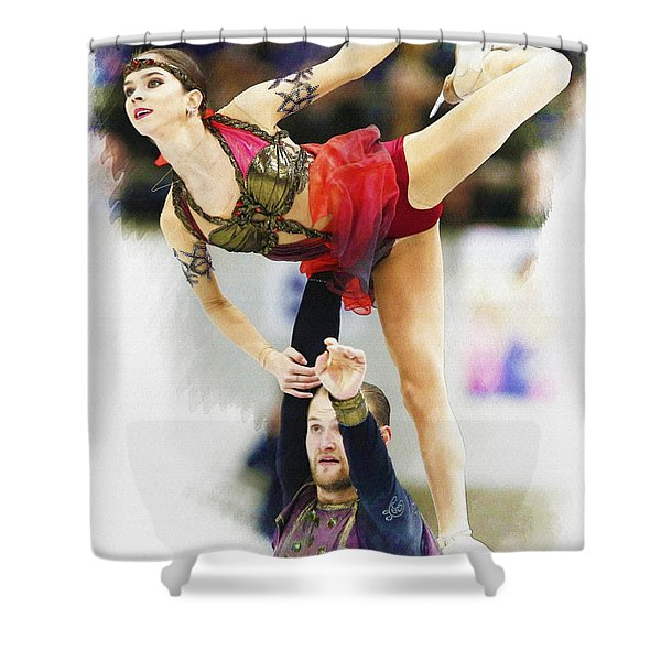 Vera Bazarova And Yuri Larionov Of Russia Shower Curtain