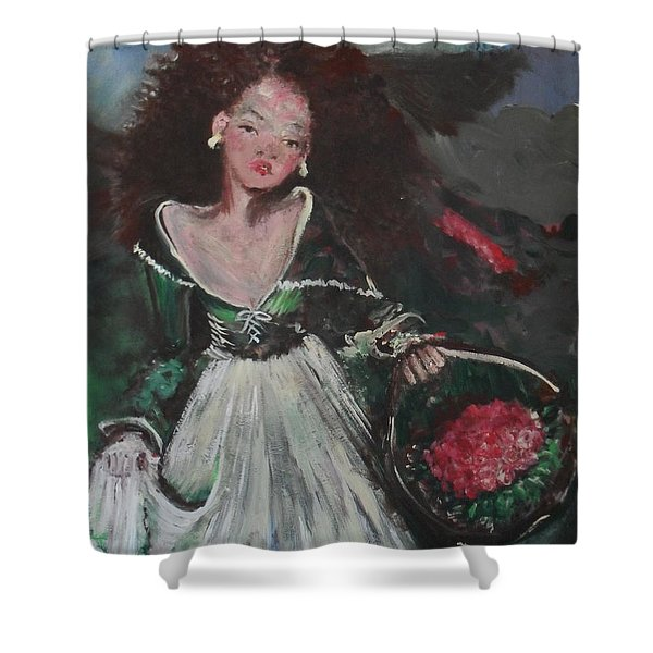 Shower Curtain featuring the painting Free by Laurie Lundquist