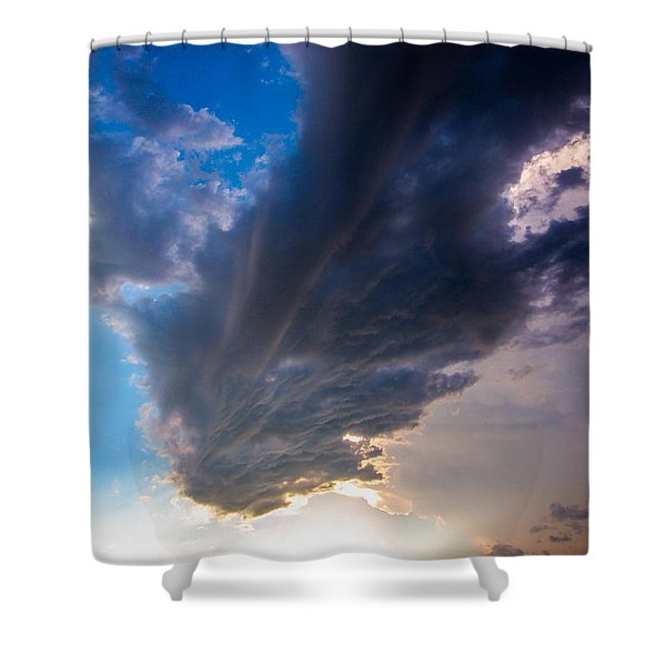 Late Afternoon Nebraska Thunderstorms Shower Curtain
