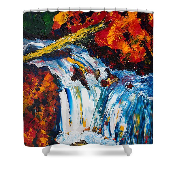 Log And Waterfall Shower Curtain