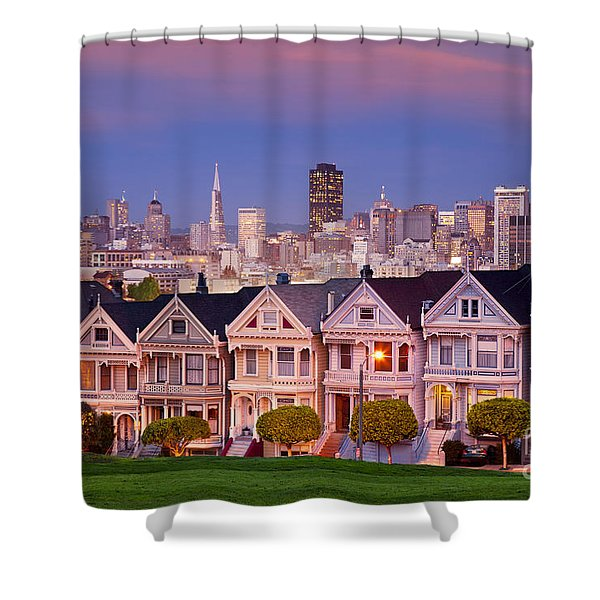 Shower Curtain featuring the photograph Painted Ladies by Brian Jannsen