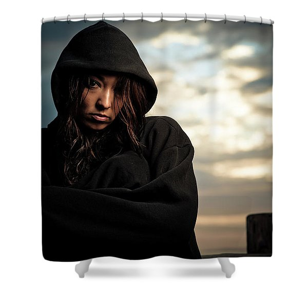 Portrait Of A Young Woman Endurance Shower Curtain