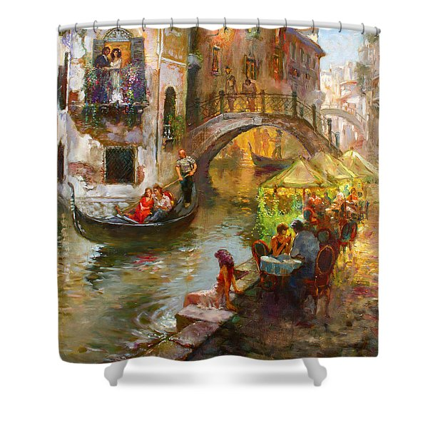 Romance In Venice  Shower Curtain