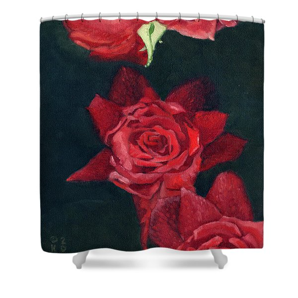 3 Roses Red Shower Curtain