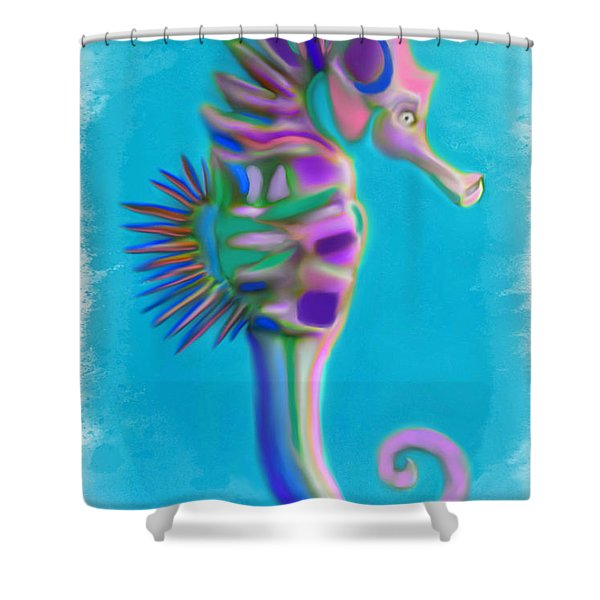 The Pretty Seahorse Shower Curtain