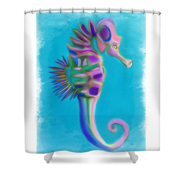 The Pretty Seahorse Shower Curtain