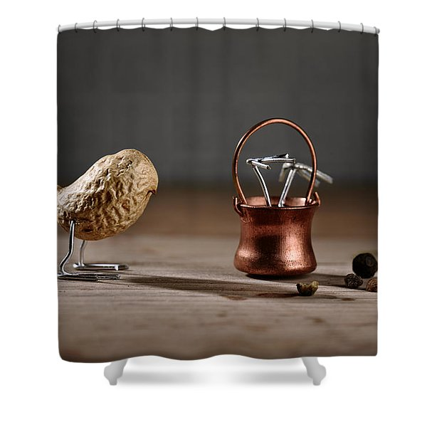 Simple Things -  Strange Birds Shower Curtain