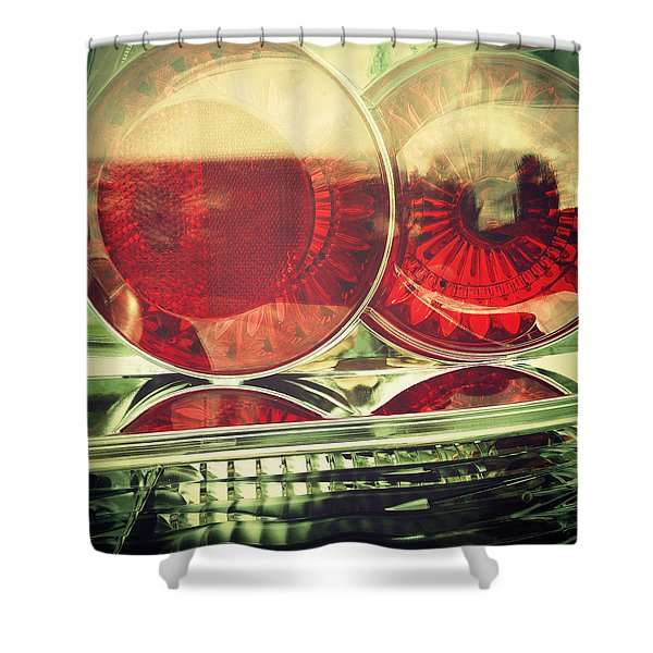 Tail Lights Shower Curtain