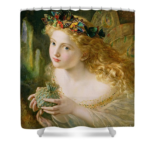 Take The Fair Face Of Woman Shower Curtain