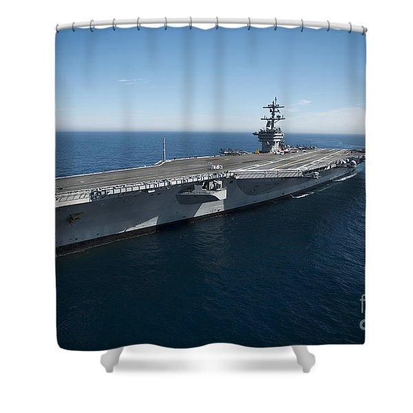 The Aircraft Carrier Uss Carl Vinson Shower Curtain