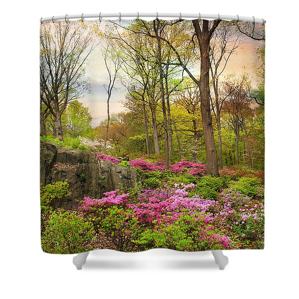 The Azalea Garden Shower Curtain