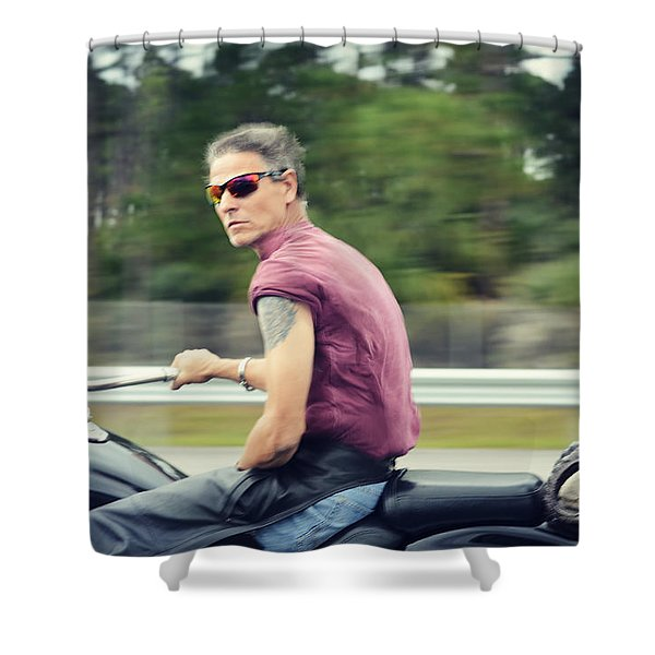The Biker Shower Curtain