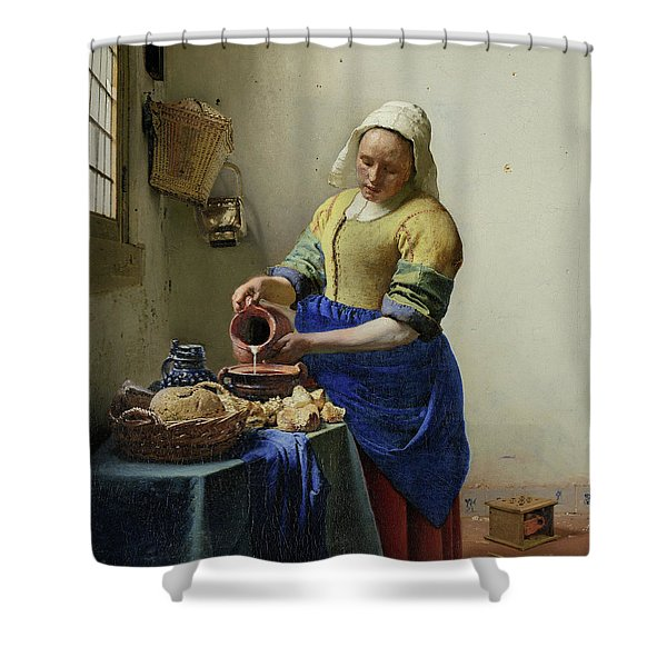 The Milkmaid  Shower Curtain