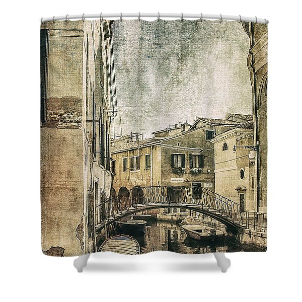 Venice Back In Time Shower Curtain