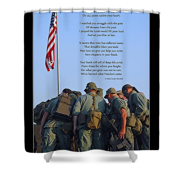 Shower Curtain featuring the photograph Veterans Remember by Carolyn Marshall