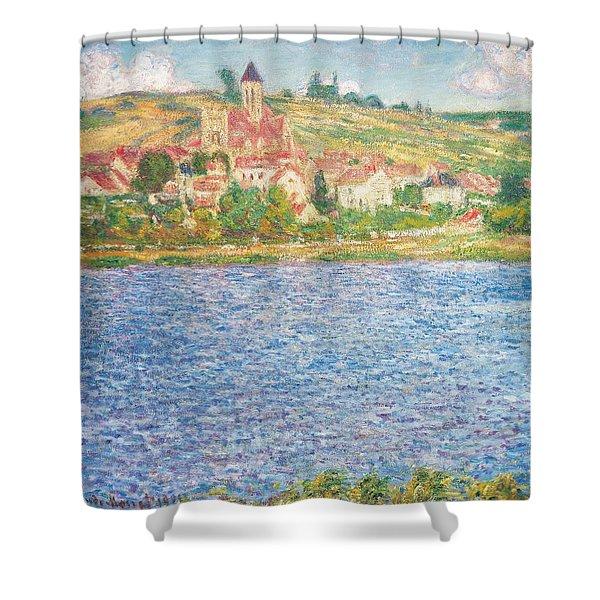 Vetheuil Shower Curtain