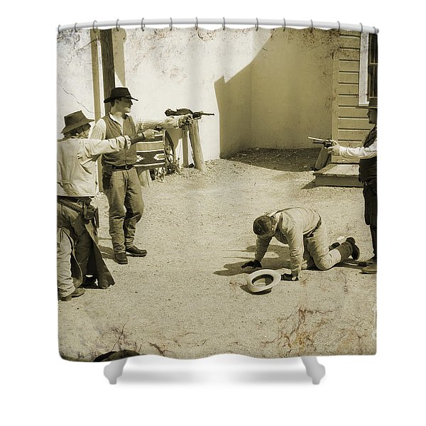 30 Seconds To Die In Tombstone Shower Curtain