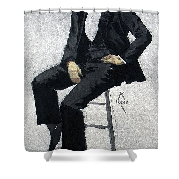 Gatsby Study 3 Shower Curtain