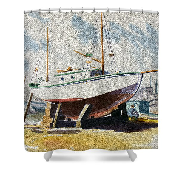 The Shipyard Shower Curtain