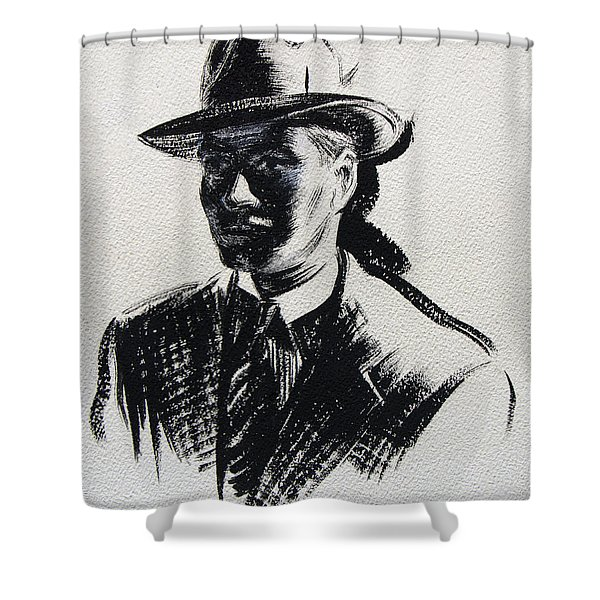 Secret Agent Study 3 Shower Curtain