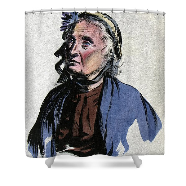 Aunt Edna Shower Curtain