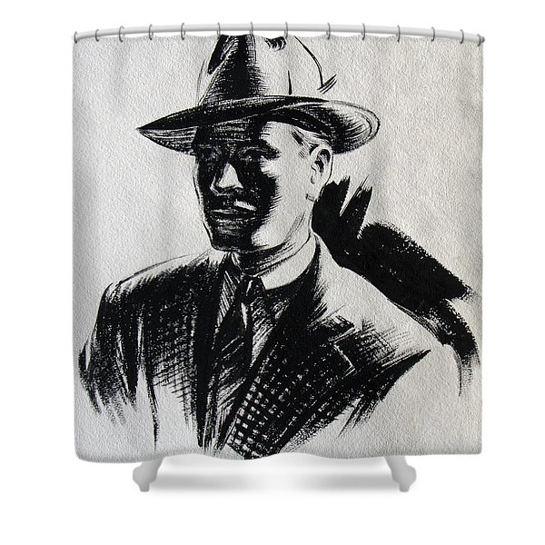 Secret Agent Study 2 Shower Curtain