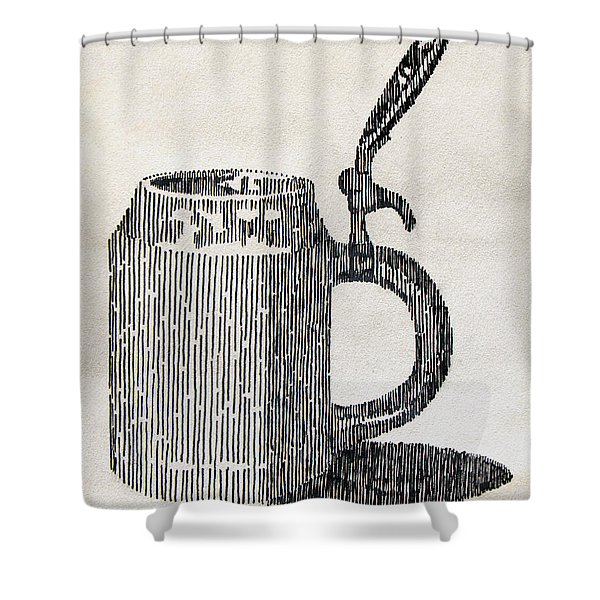 Stein Study Shower Curtain