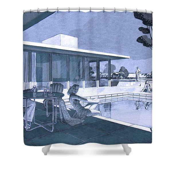Palm Springs Sunday Shower Curtain