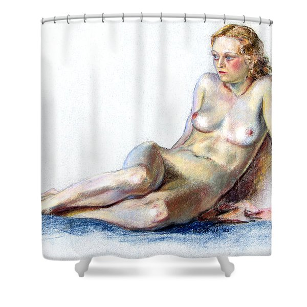 Blue Velvet Shower Curtain