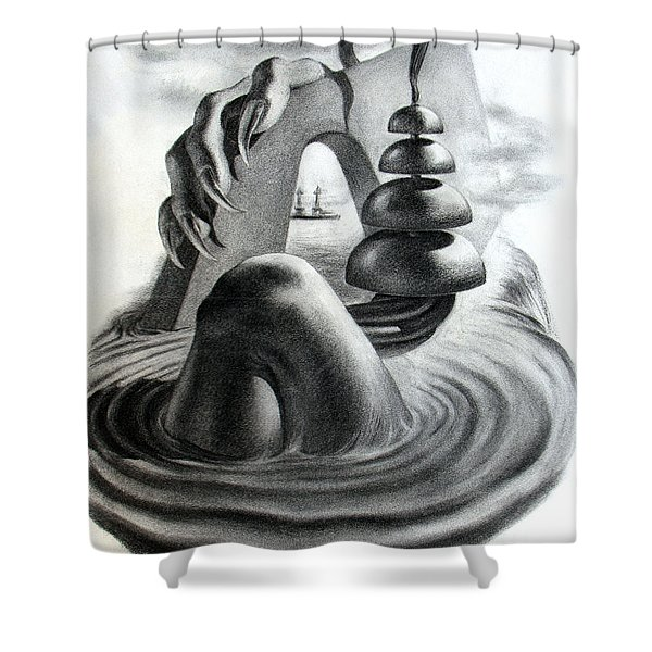 Phantom Object Shower Curtain